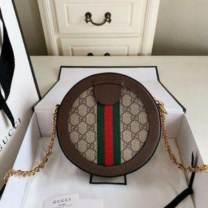 NEW Gucci Ophidia GG Supreme Round Mini Bag tallos